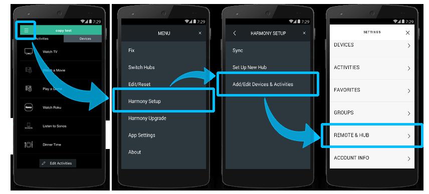 MyHarmony - Personnalisation des boutons physiques de la télécommande