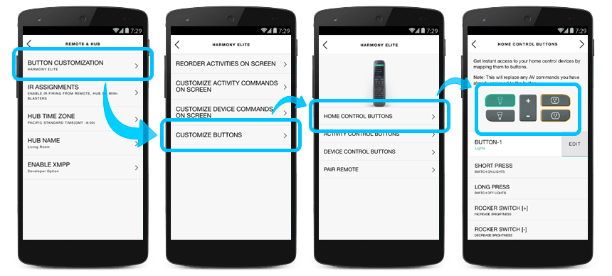 MyHarmony Customize Physical Buttons on Remote